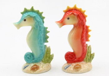 Seahorse Porcelain Salt and Pepper Shakers, Set of 4