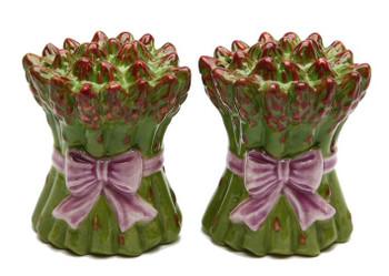 Asparagus Porcelain Salt and Pepper Shakers, Set of 4