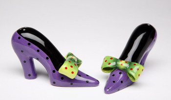 High Heel Shoes Ceramic Salt and Pepper Shakers, Set of 4