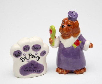Dog You Accept Me Wrinkles and All Salt and Pepper Shakers, Set of 4