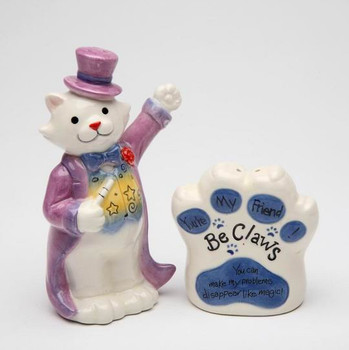 Cat You Can Make Problems Disappear Salt and Pepper Shakers, Set of 4