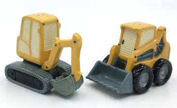 Construction Machines Ceramic Salt and Pepper Shakers, Set of 4