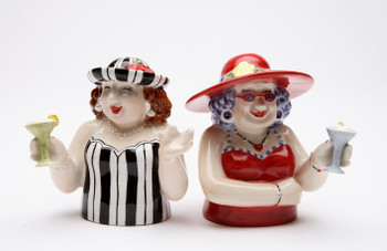 Sophisticated Ladies Ceramic Salt and Pepper Shakers, Set of 4