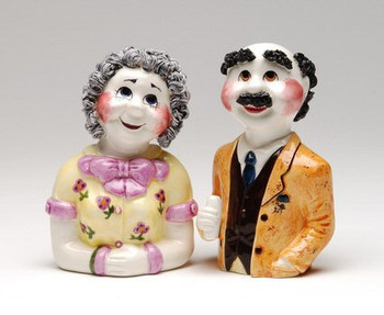 Sadie and Charlie Schwartz Ceramic Salt and Pepper Shakers, Set of 4