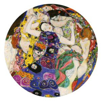 The Virgin Die Jungfrau Portable Folding Cosmetic Compact Mirror by Gustav Klimt