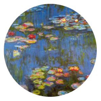 Waterlilies Portable Folding Cosmetic Compact Mirror by Monet