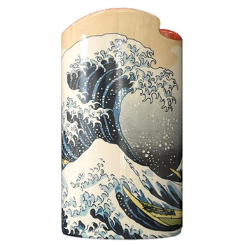 Great Wave Off Kanagawa Japanese Ceramic Flower Vase by Hokusai