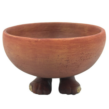 Small Egyptian Offering Bowl with Human Feet Statue