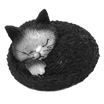 Cat Kitty Taking Nap Siesta Mini Statue by Dubout