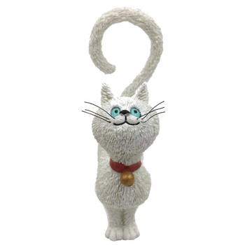 Cat White What Should I Eat Question Mark Tail Cat Statue by Dubout