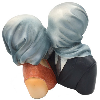 Lovers with Covered Heads Les Amants Pocket Art Statue by Magritte