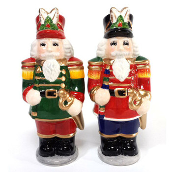 Nutcracker Porcelain Salt and Pepper Shakers, Set of 4