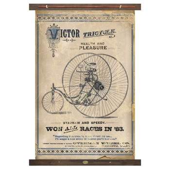 Custom Victor Tricycle Bike Health and Pleasure Canvas Tapestry