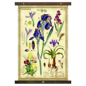 Custom The Iris Flower Canvas Tapestry