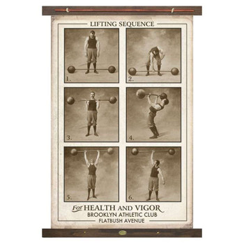 Custom Weight Lifters Lifting Sequence For Health and Vigor Canvas Tapestry
