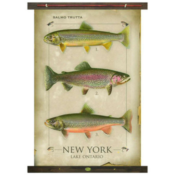 Custom Salmo Trutta Fish New York Lake Ontario Canvas Tapestry