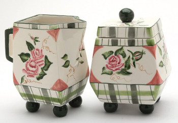 Romantic Rose Sugar and Creamer Set
