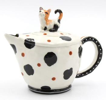 Calico Cat Ceramic Teapot