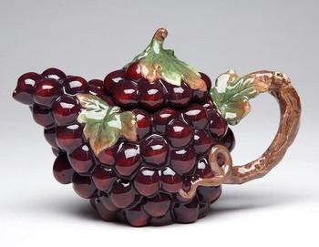 Grape Porcelain Teapot