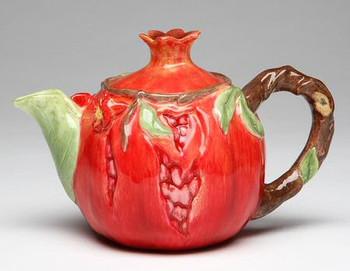 Pomegranate Porcelain Teapot
