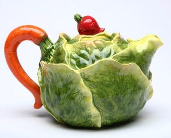 Cabbage Porcelain Teapot