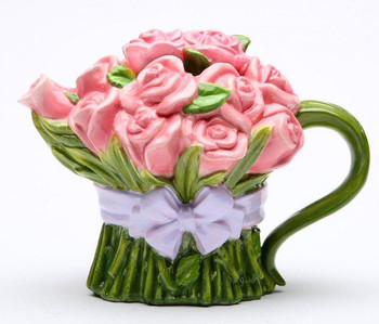Pink Rose Porcelain Teapot