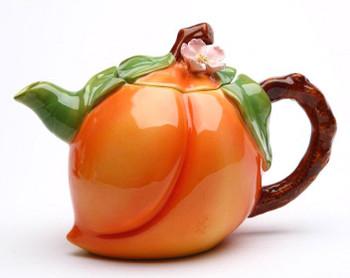 Peach Porcelain Teapot
