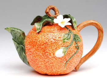 Orange Porcelain Teapot