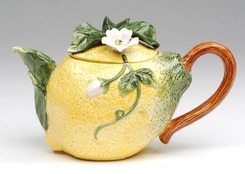 Lemon Porcelain Teapot