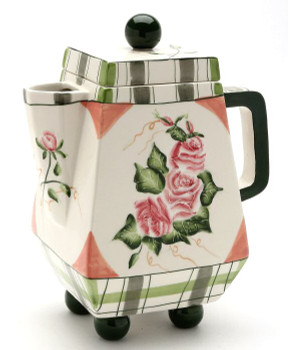 Romantic Rose Ceramic Teapot
