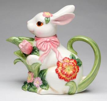 Bunny Rabbit Porcelain Teapot