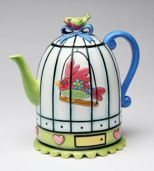 Birdcage Ceramic Teapot