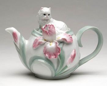 Persian Cat Porcelain Teapot