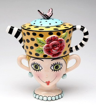 Lady Lux Ceramic Teapot for One