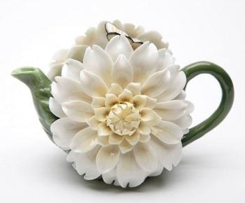 Daisy Flower Porcelain Teapot