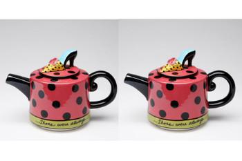 Shoe on Her Mind Ceramic Teapot, Set of 2