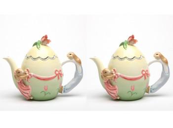 Bunny Ceramic Teapot, Set of 2