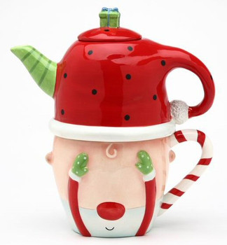 Santa Ceramic Teapot for One