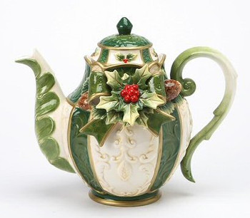 Holly Porcelain Teapot