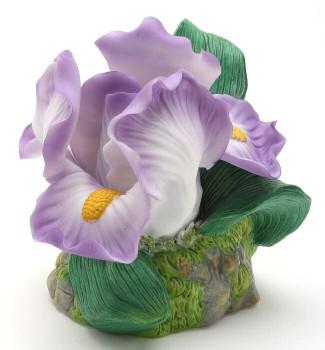 Iris Flower Porcelain Night Lights, Set of 2