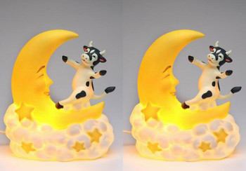 Cow Jump Over the Moon Night Light, Set of 2
