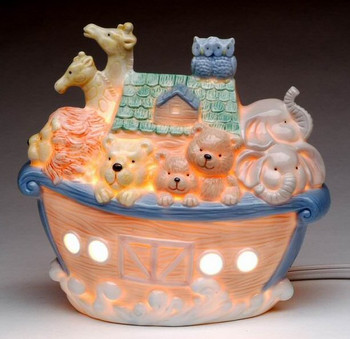 Large Noah's Ark Porcelain Night Lights, Set of 2