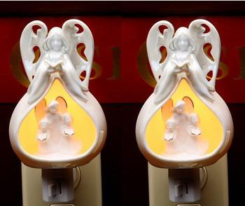 Herald Angels Sing Porcelain Night Light, Set of 2