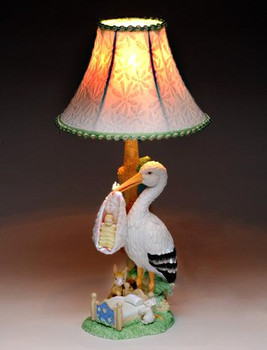 Stork Table Lamp with Shade