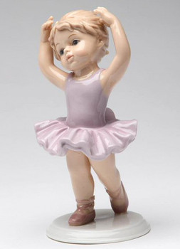 Young Ballerina with Her Hands Up Porcelain Sculpture