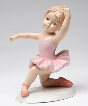 Young Ballerina with Her Knee Down Porcelain Sculpture
