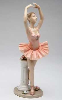 Ballerina Dancing Porcelain Sculpture