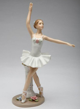 Ballerina in Point Position Porcelain Sculpture