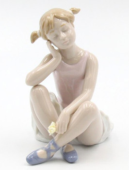 Ballerina Thinking Porcelain Sculpture by Nadal