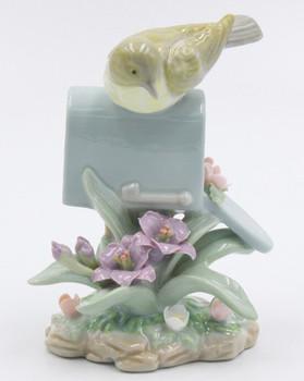 Warbler Bird on a Mailbox Sculpture